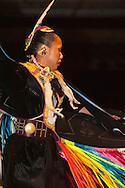 Fancy Shawl Dancer, Milk River Indian Days Pow Wow, Fort Belknap Indian Reservation, Montana.