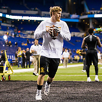 INDIANAPOLIS, IN - December 5, 2015:  Big Ten Championship featuring Iowa versus Michigan State at Lucas Oil Stadium on December 5, 2015 in Indianapolis, IN.  (Photo by Chip Litherland for ESPN)