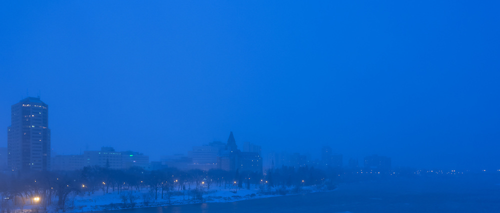 Blue Night, Snow Warning, Saskatoon