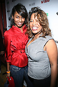l to r: Latoya Henry and Danyel Smith at The Vibe Magazine VIP Celebration for Vibe's December cover featuring the first New York show of Plies, held at The Knitting Factory on November 24, 2008 in NYC