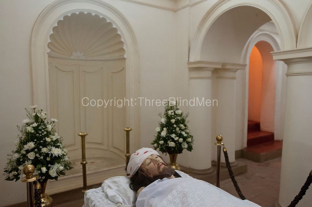 Crypt at St. Lucia Cathedral, Kotahena on Good Friday