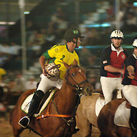 horseball players fighting for ball.World horseball championship, La Rural Buenos Aires, Argentina 2006, copa Cardon