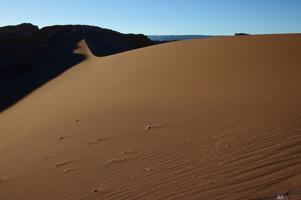 Sand dune in Valle de la Luna (Valley of the Moon), in Chile's Atacama Desert