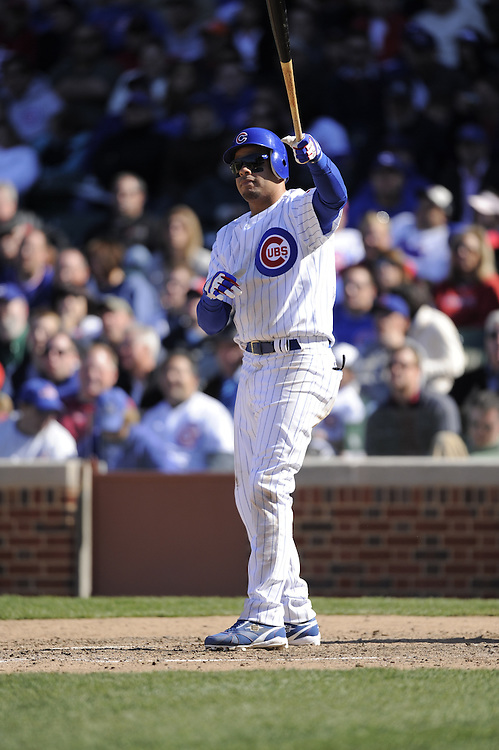 CHICAGO - APRIL 16:  Aramis Ramirez #16 of the Chicago Cubs bats against the St. Louis Cardinals on April 16, 2009 at Wrigley Field in Chicago, Illinois.  The Cardinals defeated the Cubs 7-4.  (Photo by Ron Vesely)