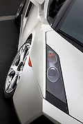 Image of a white Lamborghini sports car detail, Pacific Northwest