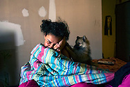 Tiffany, 13 years old, diagnosed with lead in her body. Melrose Houses, Bronx, NY, 2012.