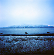 Guard rail on Turnagain Arm, Alaska. 2009