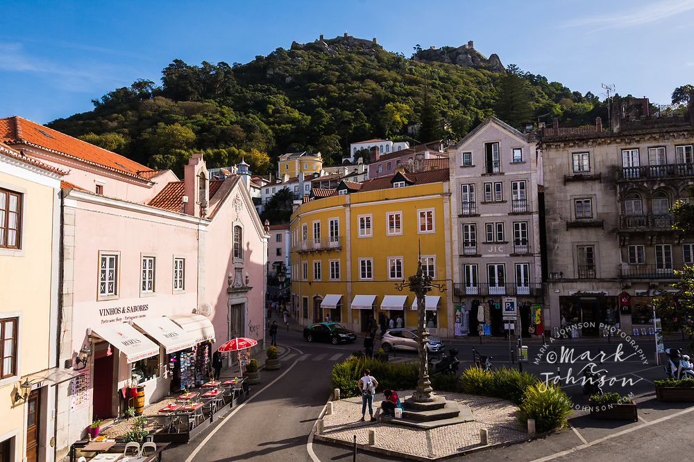 The Moorish Castle on the hill behind Sintra, Portugal
