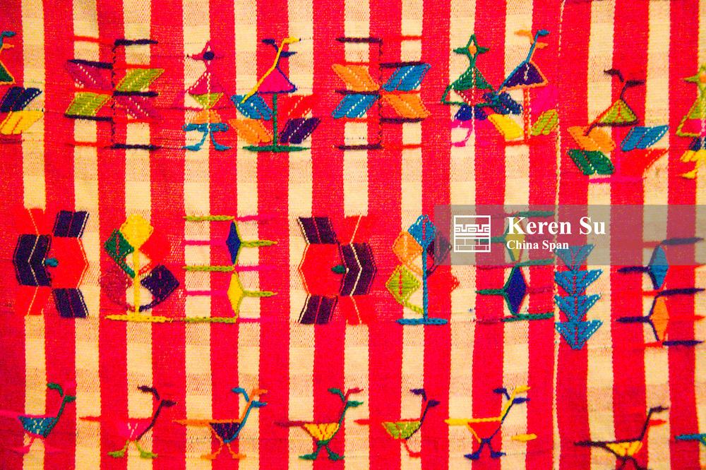 Colorful textile piece, Guatemala