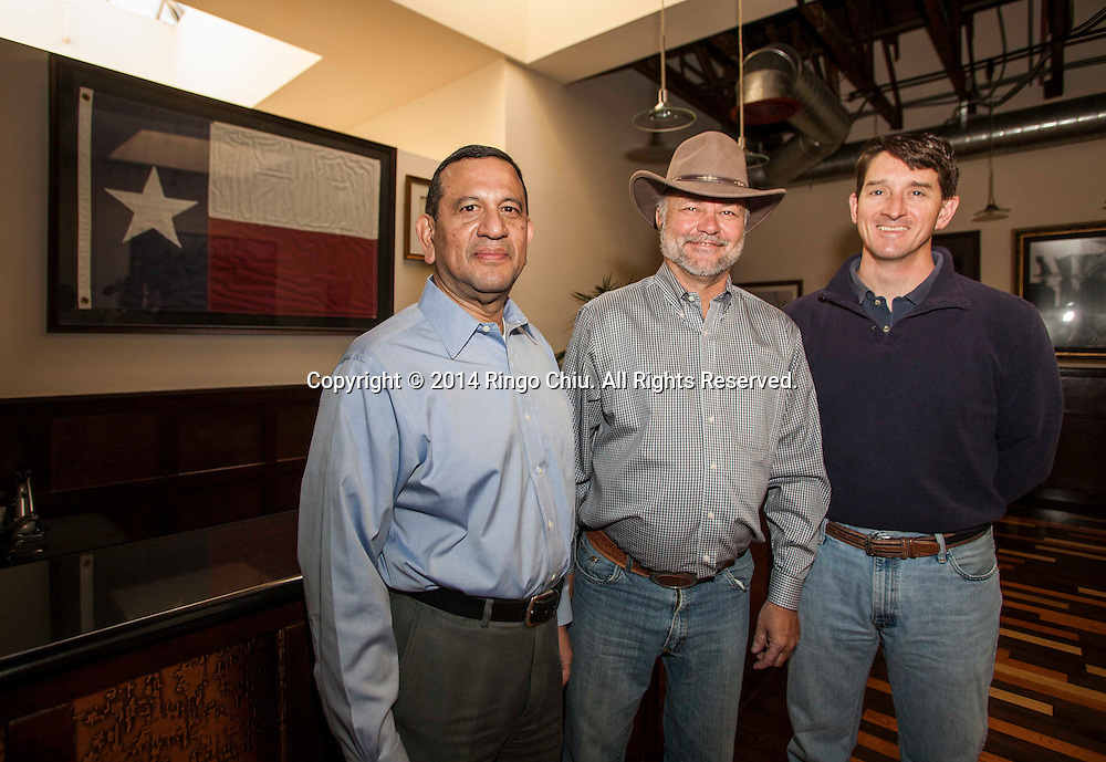 (From left to right) Charles E. Barrantes, CFO,  Ronald F. Valenta, CEO, and  Christopher Wilson, VP, of General Finance in Pasadena. (Photo by Ringo Chiu/PHOTOFORMULA.com)