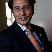 Ambassador of Afghanistan to Washington, Said T. Jawad on a recent visit to the capital in the Serena Hotel, Kabul, Afghanistan on the 9th of January 2008.