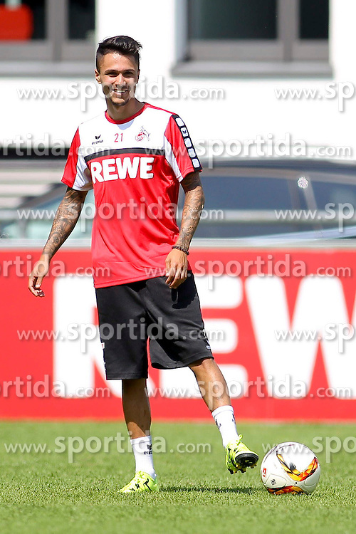 16.07.2015, Geissbockheim, Koeln, GER, 1. FBL, 1. FC Koeln, Training, im Bild Neuzugang Leonardo Bittencourt (1. FC Koeln #21) // during a practice session of German Bundesliga Club 1. FC Cologne at the Geissbockheim in Koeln, Germany on 2015/07/16. EXPA Pictures &copy; 2015, PhotoCredit: EXPA/ Eibner-Pressefoto/ Schueler<br /> <br /> *****ATTENTION - OUT of GER*****