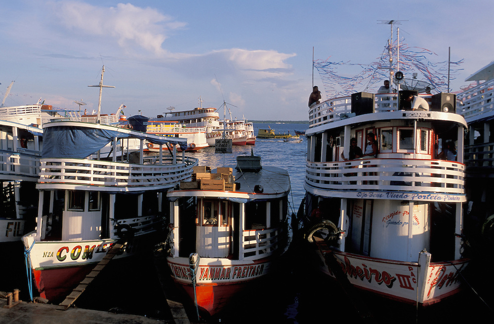 Boat Harbor,Rio Negro,Manaus,Amazonia,Brazil