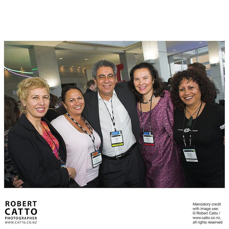 Mei Taare;Rhonda Kite;Derek Fox;Jaewynn McKay;Manutai Schuster at the Spada Conference 06 at the Hyatt Regency Hotel, Auckland, New Zealand.<br />