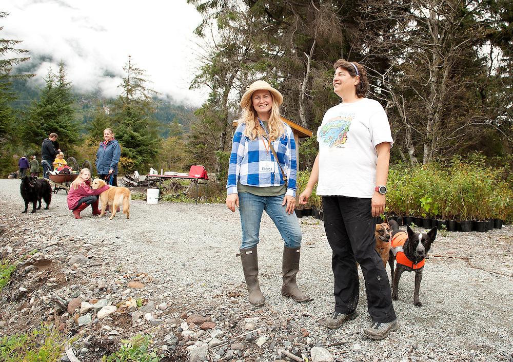 Rhonda O'Grady and Squamish River Watershed Society executive director Edith Tobe at the annual Squamish River Watershed Society Rivers Day event.
