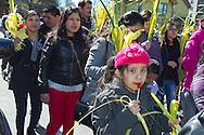 Palm Sunday procession in Peekskill, NY