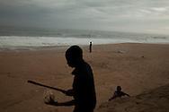 Craft vendors on a beach near Abidjan, Ivory Coast. 30/08/2013 Photo Tiago Miranda/4SEE NO SALES IN PORTUGAL