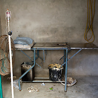 A delivery room at home of a local dai (traditional midwife) shows the poor and unhygienic conditions in which most women deliver their babies in the rural areas. Lack of medical knowledge and poor hygiene are the major causes of the high maternal and neonatal mortality rate. Kandiaro, Pakistan 2010