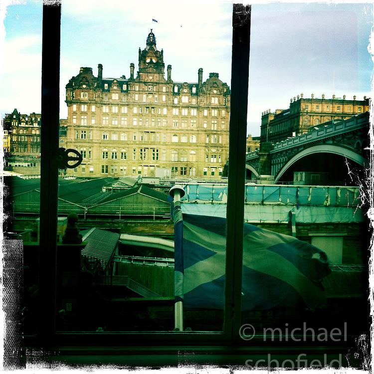 Balmoral Hotel, Edinburgh..Hipstamatic images taken on an Apple iPhone..©Michael Schofield.