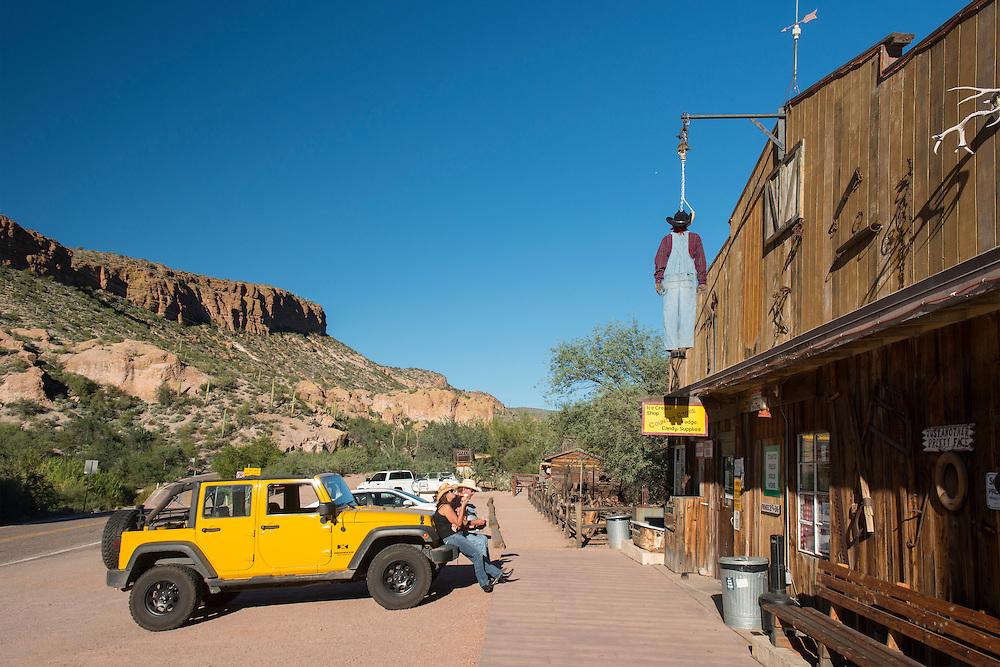 USA; Southwest; Arizona; Phoenix; Apache Junction; Tortilla Flat