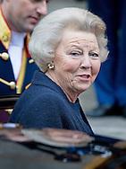 14-1-2015 AMSTERDAM - AMSTERDAM - Prinses Beatrix komt aan bij het Koninklijk Paleis op de Dam voor de nieuwjaarsreceptie voor buitenlandse diplomaten. Princess Beatrix  arrive at the Palace at the Dam for the new year reception corps diplomatic . COPYRIGHT ROBIN UTRECHT