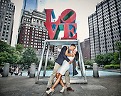 Engagement at Love Park