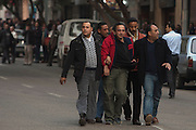 Egyptian plain clothes security officers arrest a protestor during continuing January 26, 2011 demonstrations in downtown Cairo, Egypt. A series of unprecedented demonstrations have broken out across Egypt for the past two days, inspired by the revolution in Tunisia, and intended to spark a similar movement in Egypt. (Photo by Scott Nelson)
