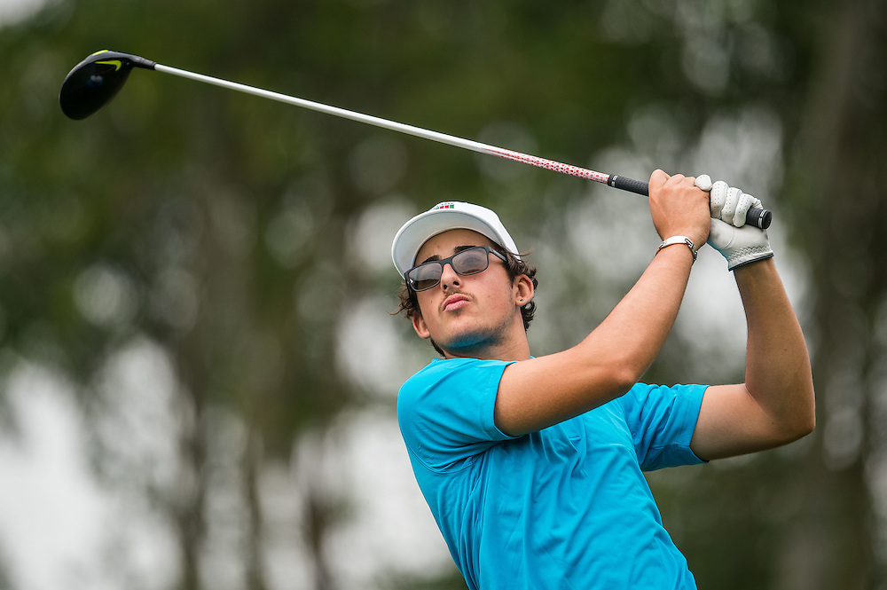 Samual Nashaar of Australia in action during day three of the 10th Faldo Series Asia Grand Final at Faldo course on 04 March of 2016 in Shenzhen, China. Photo by Xaume Olleros.