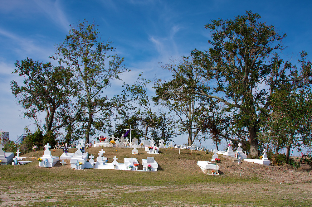 Cemetery and Indian Mound, Chauvin, LA