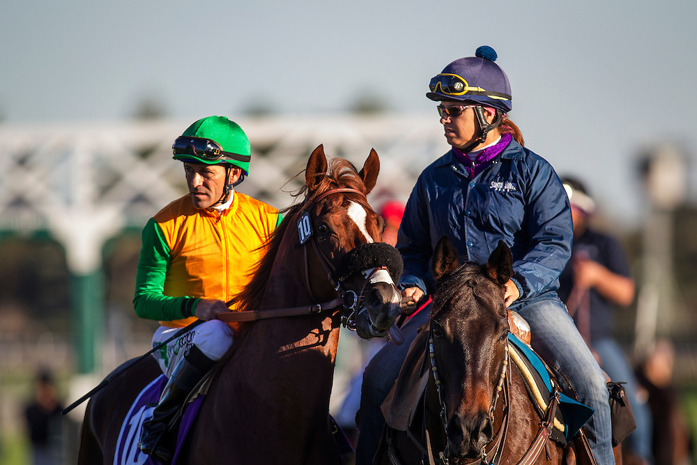 December 26, 2015: Om with Gary Stevens wins the Mathis Brothers Mile Stakes at Santa Anita Park, Arcadia CA. Evers/ESW/CSM