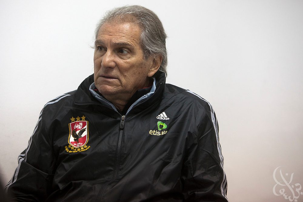 Manuel Jose, the Portuguese Coach of the Egyptian football team Al-Ahly prepares for a meeting with his assistants and trainers February 17, 2012 in Cairo, Egypt. Jose returned to Egypt Feb 16 to resume his job of coach of Al-Ahly in the wake of post-football match violence February 2nd, 2012 that killed 74 and injured hundreds more in the Port Said, Egypt stadium.  (Photo by Scott Nelson)