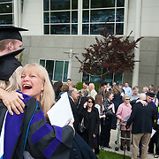 Law School graduates celebrate after commencement. (Photo by Gonzaga University)