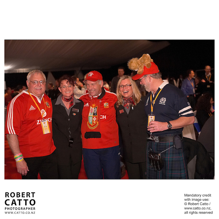 Lions Fans at the British &amp; Irish Lions v. Auckland Blues Match at Eden Park, Auckland, New Zealand.<br />