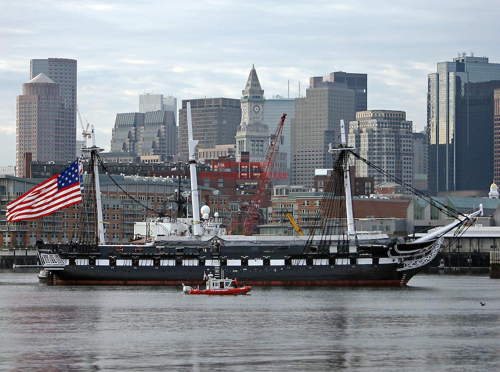(10/21/09-Boston,MA) The turn-around of the U.S.S Constitution Mark Garfinkel photo