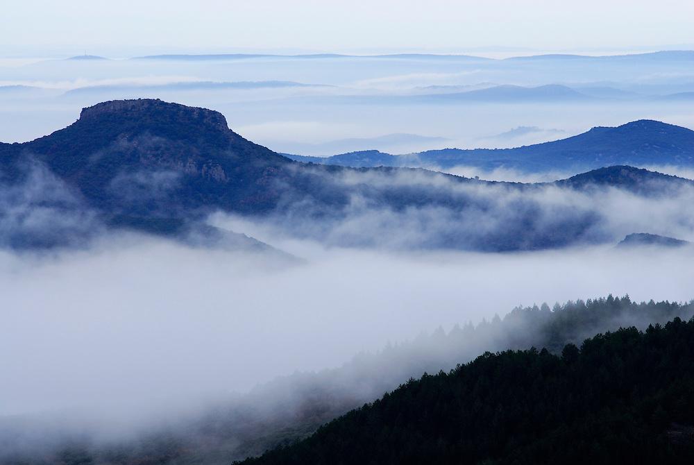 France, languedoc Roussillon, Gard, Cévennes, les montagne de Saint-Chamand, région de Monoblet