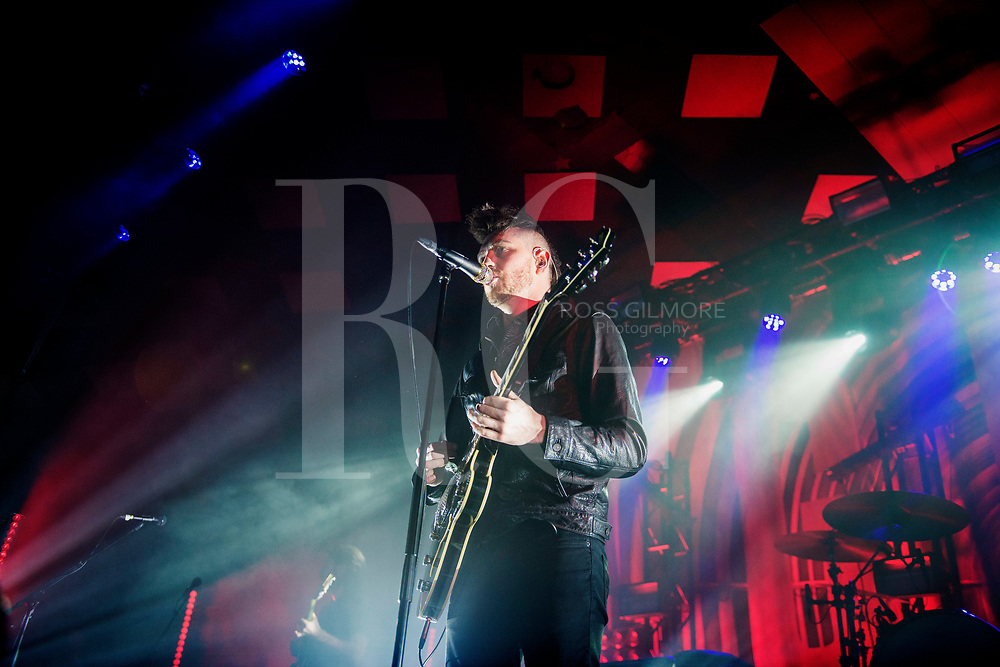 GLASGOW, SCOTLAND - DECEMBER 13: Sam McTrusty of Twin Atlantic performs at Barrowlands Ballroom on December 13, 2016 in Glasgow, Scotland. (Photo by Ross Gilmore