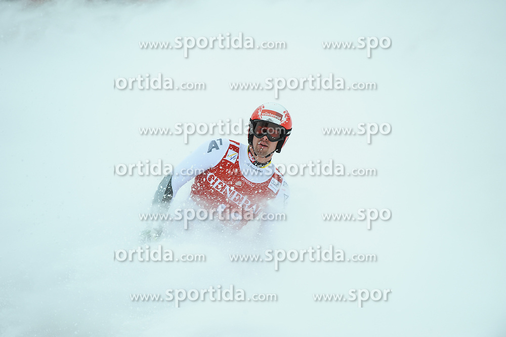 25.01.2013, Streif, Kitzbuehel, AUT, FIS Weltcup Ski Alpin, Super G, Herren, im Bild Joachim Puchner (AUT) // Joachim Puchner of Austria reacts after mens SuperG of the FIS Ski Alpine World Cup at the Streif course, Kitzbuehel, Austria on 2013/01/25. EXPA Pictures © 2013, PhotoCredit: EXPA/ Erich Spiess