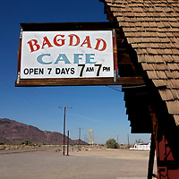 Bagdad Cafe, Newberry Springs, California..A trip through parts of Route 66 from Southern California to Arizona.