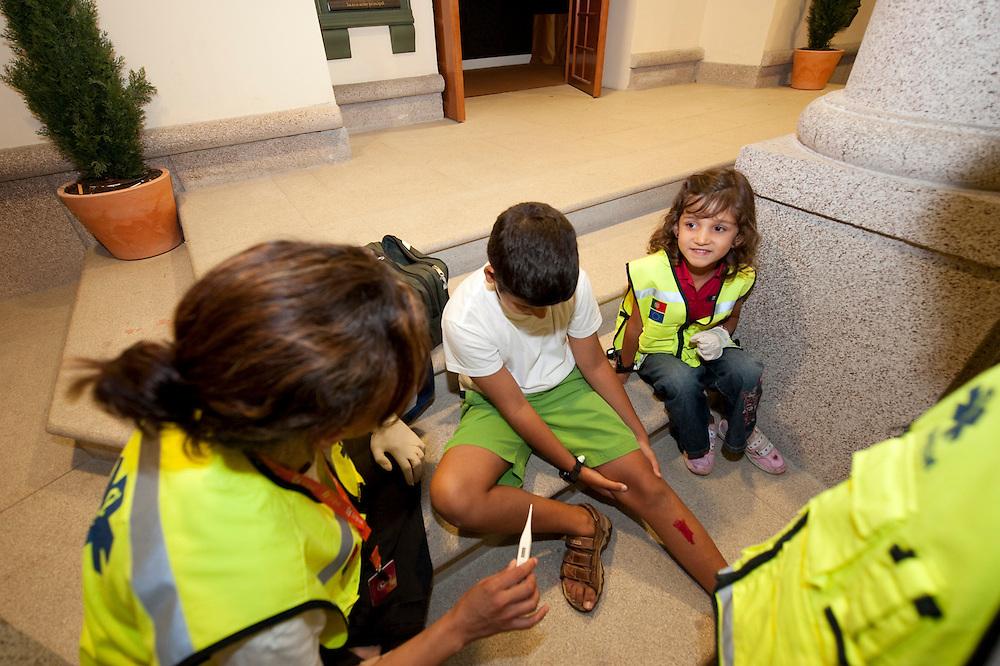 No parque infantil Kidzania. At Lisbon Kidzania childrens atraction