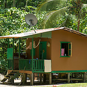 Central America, Centro America, Latin America, Latin, tropical, Costa Rica, Puerto Viejo, Caribbean, Manzanillo Wildlife Refuge, Manzanillo, Small cottage in-holding in the Manzanillo Wildlife Refuge, Costa Rica.