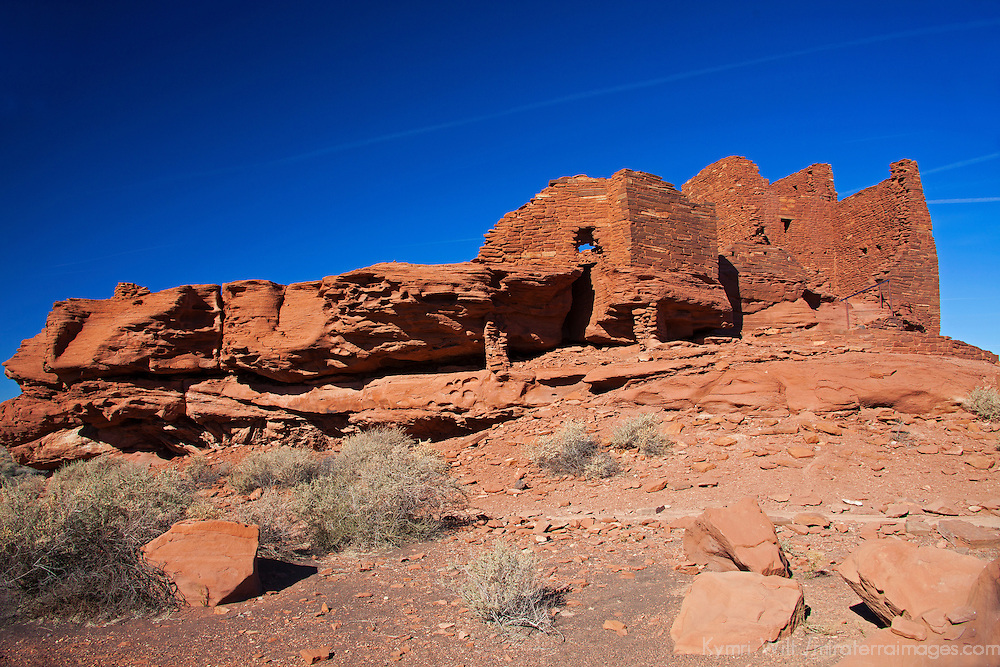 North America, USA, Arizona, Wupatki. Wukoki Pueblo in Wupatki National Monument.