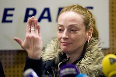 Jan 24 2013 Florence Cassez arrivals at Charles De Gaulle Airport
