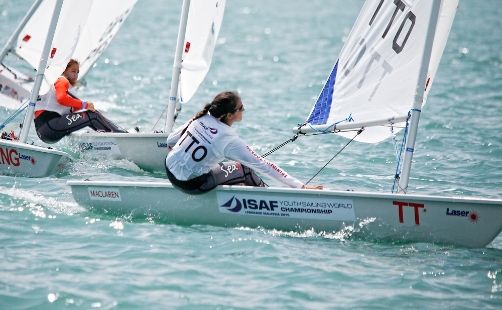Trinidad and TobagoLaser RadialWomenHelmTTOMC1MeilingChan Chow<br />Day5, 2015 Youth Sailing World Championships,<br />Langkawi, Malaysia