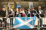 NEW YORK CITY - APRIL 9: Tartan Day Parade in New York City.