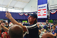COOPERSTOWN, NY - JULY 25: Hall of Fame inductee Randy Johnson takes a photo during media availability at the Clark Sports Center in Cooperstown, NY. (Photo by Jennifer Stewart/Arizona Diamondbacks)