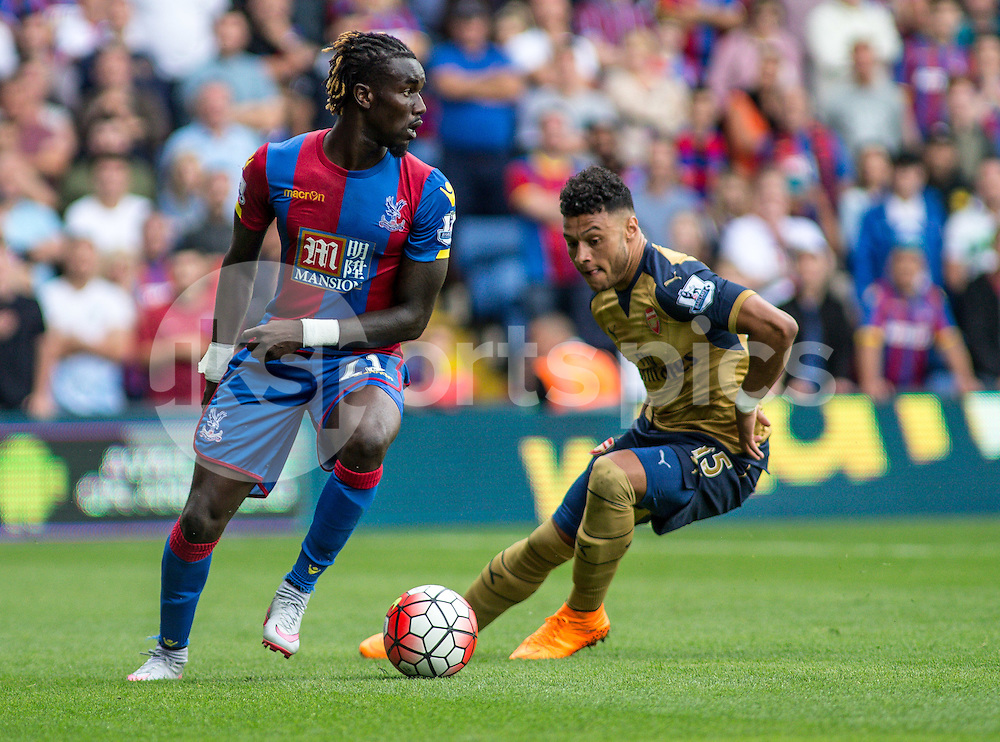 Pape Souare of Crystal Palace during the Barclays Premier League match between Crystal Palace and Arsenal at Selhurst Park, London on the 16th August 2015. Photo by Liam McAvoy.