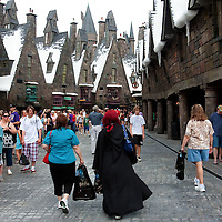 ORLANDO, FL -- May 29, 2010 -- The streets of Hogsmeade are picked during a technical rehearsal at The Wizarding World of Harry Potter at Universal Orlando in Orlando, Fla., on Saturday, May 29, 2010.  The 20-acre park features a new ride inside the Hogwarts Castle, shops along the village of Hogsmeade, and is scheduled to officially open on June 18.