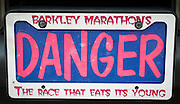 License plate at the Barkley Marathons in Frozen Head State Park, TN.