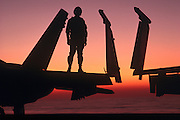 F-18 pilot on folding wings
