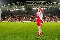 UTRECHT - Utrecht - Roda JC , Voetbal , Eredivisie, Seizoen 2015/2016 , Stadion Galgenwaard , 17-10-2015 , FC Utrecht speler Bart Ramselaar loopt teleurgesteld van het veld